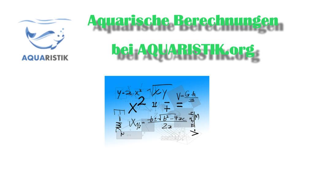 Berechnungen in der Aquaristik Übersicht